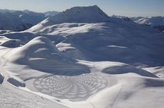 Land art in winter landscape #3d #his #france #each #pai #snow #is #there #the #it #creating #and #art #when #artis #winter