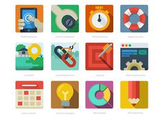 Free Flat SEO icons #illustration #icons