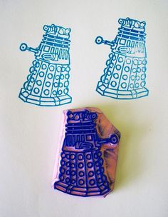 EXTERMINATE! EXTERMINATE! #illustration #stamp #hand #made