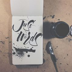 joan quirós #lettering #ink #words