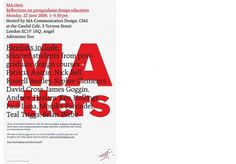 09_MAtters.jpg 730×510 pixels #williams #emma #poster #typography
