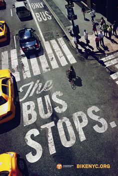THE_BUS_STOPS_47 75x71.indd #advertising #bike #typography