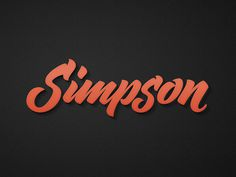 David Simpson Logotype on Behance #logotype #lettering #branding #logo #type #typogrpahy
