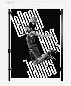 Font: Disclaimer | Lebron King James poster | typography