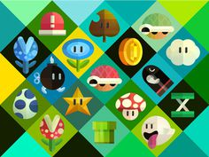 Mario #nintendo #vector #mario #illustrations #items