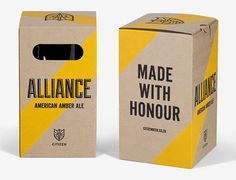 Citizen Beer Packaging #packaging #beer #label #bottle