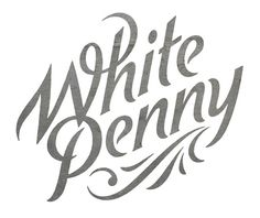 White Penny #simon #walker #handmade #typography