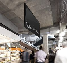 QV Melbourne #wayfinding #monochrome #signage #angular