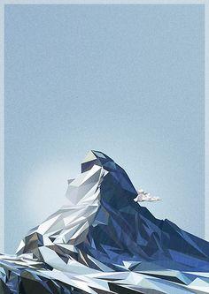 Shades of the Matterhorn by iamh1ngo #outdoors #illustration #mountain