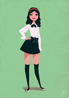 Gossip Girl Blair by by Xavier Ramonède #girls #illustration #fashion #cartoon #illust