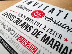 Invitation-30ans #red #typography