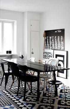 . #interior #blackwhite #design #table #decoration