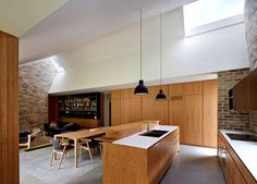 Skylight House Extension by Andrew Burges white sculptured ceiling line #interior #design #decor #home #kitchen