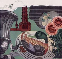 All sizes | Kew Gardens by Edward Bawden 1936 (via If Charlie Parker) | Flickr - Photo Sharing! #edwrad #london #bawden #kew #gardens #illustration #poster