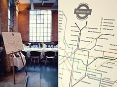 Makea - Wedding Photography and Inspirations #table #map