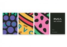 Daniel Ting Chong x RVCA Capsule #cards #identity #stationary