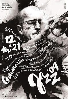 Guimarães Jazz Posters | feel desain #poster #music #graphic #jazz #posters #script #handwrite