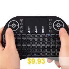 Air #Mouse #Keyboard #Backlit #Flying #Squirrel #- #BLACK