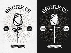 Secrets - Rose by Ethan Silva #logo #rose