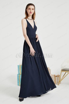eDressit Blue V-Cut Back Lace Party Long Evening Dress (00203805)