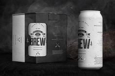 bitches-brew-wedge-and-lever11 #beer #can #white #packaging #black #brew #and #coffee #monochromatic