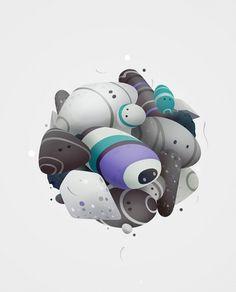 spheres on the Behance Network #illustration #vector
