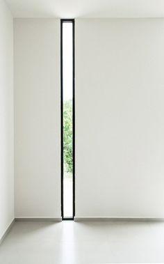 Black framed narrow window. W41 by Warm Architects. © Zaruhy Sangochian. #window #narrowwindow