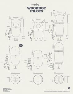 Woodbot package design & blueprint | Designchapel™ #blueprint #design #toy