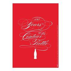 Ale Paul for Coca Cola #lettering #swash #coke #coca cola #script #100 years