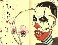 All sizes | clown | Flickr - Photo Sharing! #sketch #drawing #moleskine #pen and ink #clown #inkandclay