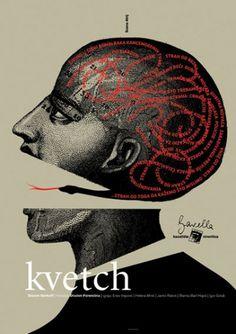 Studio Cuculić | Radovi - kazalište gavella, kvetch #design #graphic #book