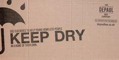 Depaul UK Box company campaign