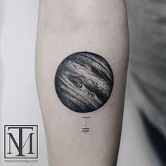 Black and Grey Jupiter Tattoo