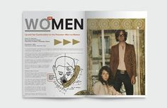 WOMEN VS MEN - Cooper Bingham #spread #design #graphic #magazine