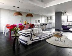 Unique Living Space Located in Taipe - sofa, #sofa #design, furniture design, seat