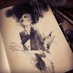 Sketchbook drawings by artist Craww #illustration #drawing #sketchbook