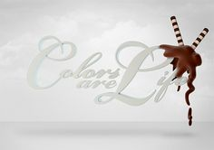 Colors are Life on the Behance Network #white #pakistan #chocolate #yummy #colors #life #typography