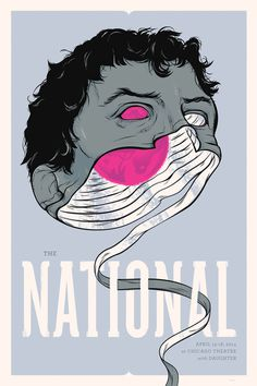 The National Gig Poster Chicago - Delicious Design League #gig #print #head #the #screen #illustration #poster #unravel #national