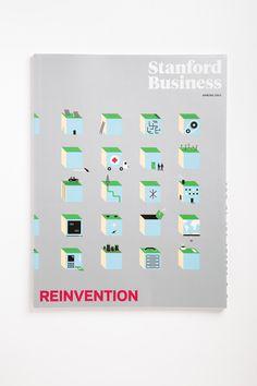 Stanford Business. Art Direction: Luke Hayman and Shigeto Akiyama, Pentagram. Design: Oliver Munday #oliver #munday #stanford #book #cover #illustration #pentagram #spot