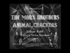 Animal Crackers (1930) Title Card #movie #lettering #title #card #vintage #type