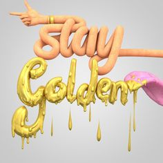 Stay Golden by JeanPierre Le Roux #lettering #cgi #design #poster #3d #typography