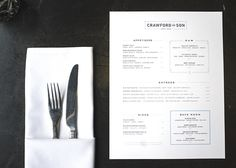 Crawford & Son Menu - Paul Tuorto