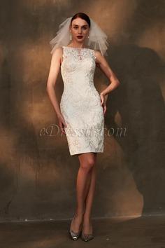 eDressit White sleeveless knee Length Fashion Cocktail Dress (03200307)