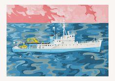 #postcard #movie #ship #illustration