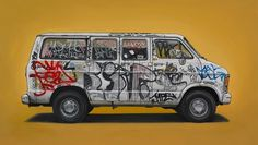 kevin cyr #van #vehicle #graffiti