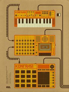 Kontrast - A Nueva Forma Audio/Visual Music Event on the Behance Network