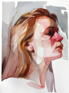 Gestural Brush Strokes and Focused Color Palettes Form Watercolor Portraits by Nick Runge