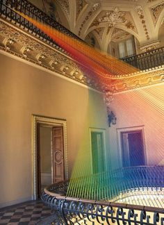 Gabriel Dawe on Agora exhibition with his art installation from textile #exhibition #textile #art #installation