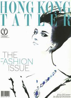 hong kong tatler david downton 2011 #downton #cover #illustration #fashion #david #drawing #magazine