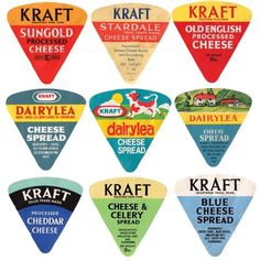 A Collection of Vintage Cheese Labels: Slideshow: Observatory: Design Observer #cheese #label #brand #kraft #vintage
